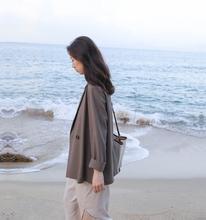5silas 薄式西gi女春港风(小)个子韩款气质套装复古休闲(小)西服潮