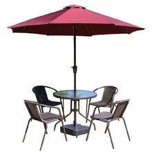 露天挡雨伞铁桌椅藤桌椅圆