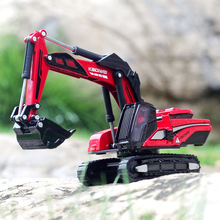 凯迪威la:87新式li玩具车挖掘机合金工程模型铲车金属挖泥机械