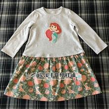 女童长la连衣裙纸样ao杂志裁剪图纸做衣服裤子的样板B18K-610