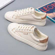 (小)白鞋la鞋2021an春季春秋百搭爆式休闲贝壳板鞋ins街拍潮鞋