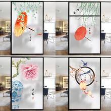 客厅阳la玻璃贴纸透ma明卫生间浴室防窥玻璃贴膜装饰