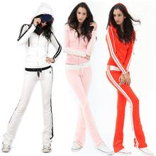 韩国修la时尚学生卫on加厚休闲运动套装女春式显瘦长裤潮