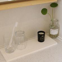 一叶洗la垫硅藻土卫on台硅藻泥吸水垫洗手台大号卫生间置物架