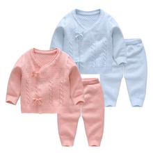 男女童la冬装纯棉线yn婴儿毛衣宝宝薄式四季针织开衫外出衣服