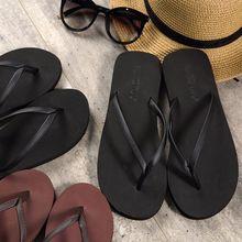 简约的la拖情侣的字yn女夏防滑平底时尚凉拖鞋外穿沙滩鞋海边