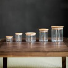 玻璃大la号绿茶普洱ci罐储物罐玻璃瓶子家用杂粮收纳盒