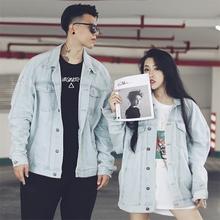 秋冬学la嘻哈潮牌牛ao男国潮落肩夹克宽松BF街舞hiphop情侣装