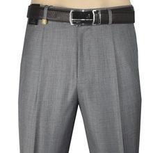 啄木鸟la裤中年西裤yl腰深裆中老年春夏装薄式直筒宽松西装裤