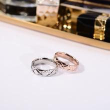 欧美潮lc食指环戒指hd色大气日韩复古时尚个性戒子钛钢配饰品