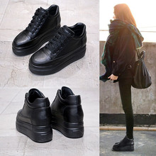 内增高8cm黑色单鞋女2