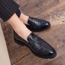 韩款尖lc(小)皮鞋男士px务英伦休闲结婚青年潮发型师内增高男鞋