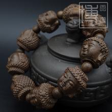沉香木lc串雕刻十八kk貅四面佛佛珠男女 念珠沉香手链男女式