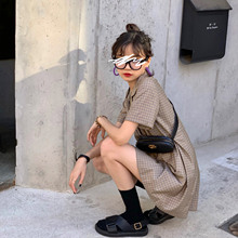 法式女lc021春式qh排扣气质收腰a字显瘦西装连衣裙夏