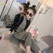 女童春ld时髦套装2hf新式韩款中大童洋气女孩女宝宝冬季三件套潮
