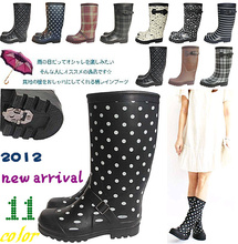 雨鞋女时尚款外穿长筒雨靴加厚le11暖棉雨ot滑水鞋加绒套
