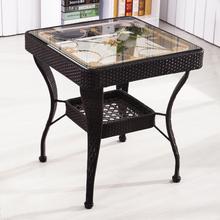 阳台(小)le几正方形简rn钢化玻璃休闲(小)方桌子家用喝茶桌椅组合