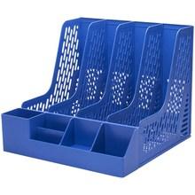 得力办le用品文件框ae件座桌面收纳文件整理置物架塑料
