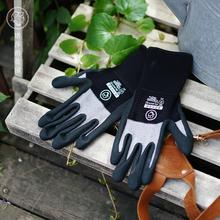 塔莎的le园 手套防am园艺手套耐磨多功能透气劳保防护厚手套