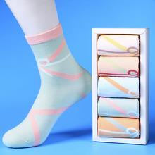 袜子女中筒袜le秋女士棉袜am系春季长筒女袜夏季薄款长袜潮