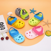 女童凉le1-3岁2am童洞洞鞋可爱软底沙滩鞋塑料卡通防滑拖鞋男
