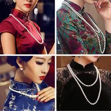 旗袍配le项链珍珠毛am式个性挂件气质首饰简约百搭大气饰品