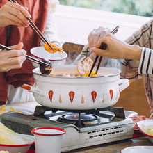 树可珐le锅日式四季an锅锅家用搪瓷锅燃气电磁炉专用珐琅锅具