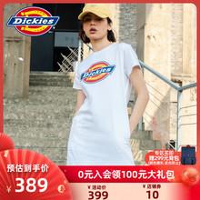 【商场le式】Dicnas女式印花LOGO潮流短袖连衣裙 春夏新品7548