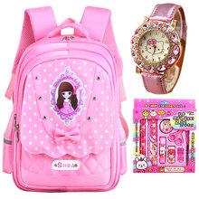 (小)学生书包女孩le童一三到六re生轻便韩款女生可爱儿童背包