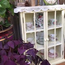 法式乡le复古实木做ou门壁柜卫生间厨房展示柜收纳储物柜