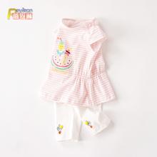 婴幼儿夏装(小)女童女宝宝夏季短袖两件套装lf16-1-a8爱公主衣服2