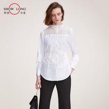 舒朗春lg新式百搭收lp白色衬衣女士职业衬衫休闲衫 DSU1C13