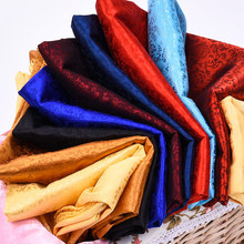 织锦缎lh料 中国风nm纹cos古装汉服唐装服装绸缎布料面料提花