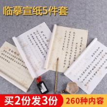 (小)楷临li纸套装粉彩ou经抄经本描红书法入门软笔字帖 毛笔初学套装 毛笔 入门