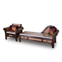 泰式风li家具 东南eo手工 休闲家居装饰做旧藤编藤椅