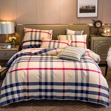 罗兰生活全棉老粗布四件套床li10用品纯rt欧风床品套件春夏
