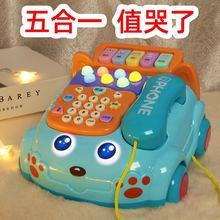 宝宝仿li电话机2座un宝宝音乐早教智能唱歌玩具婴儿益智故事机