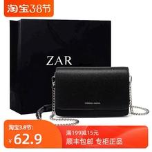 香港正li(小)方包包女eu0新式时尚(小)黑包简约百搭链条单肩斜挎包女