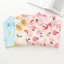 水果印花~(小)清新港风复li8韩款夏季eu短袖衬衫少女上衣衬衣