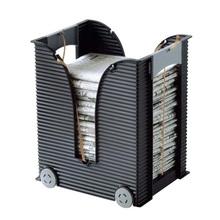 日本进li办公室报刊eu杂志收纳架塑料报纸架客厅置物架