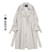 VEGli CHANnz女中长式2021新式韩款春季BF风宽松过膝休闲薄外套