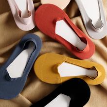日系纯li简约莫代尔ng袜女立体后跟防滑硅胶隐形浅口船袜子