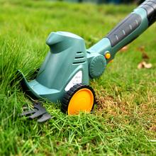 (小)型家li修草坪剪刀sa电动修枝剪松土机草坪剪枝机耕地