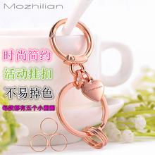 男女士li国创意简约pa腰挂扣皮带车钥匙圈环锁匙扣挂件