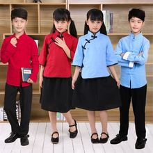 宝宝民li学生装五四en(小)学生合唱毕业照朗诵元旦中国风演出服