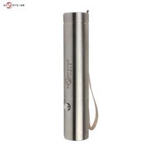 可充电li用不锈钢(小)in外白光黄光18650强光手电筒远射超亮带