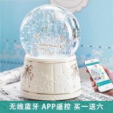 [limin]雪花水晶球音乐盒旋转木马