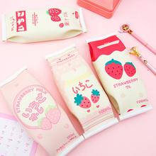 创意零li造型笔袋可on新韩国风(小)学生用拉链文具袋多功能简约铅笔袋个性男初中生高