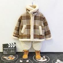 宝宝加绒外套2020冬li8新式男童on服夹克宝宝洋气呢子大衣潮