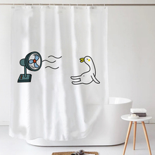 insli欧可爱简约da帘套装防水防霉加厚遮光卫生间浴室隔断帘
